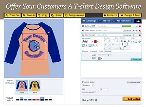 offer your customers a t shirt design software
