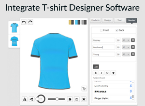 Integrate T-shirt Designer Software